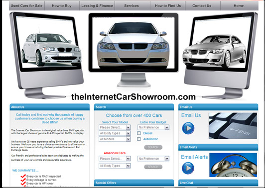 wwww.theinternetcarshowroom.com Screen Shot