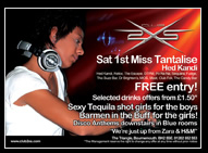 DJ Miss Tantalise Promo Flyer