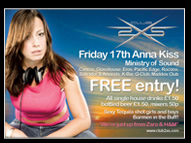 DJ Anna Kiss Promo Flyer
