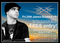 DJ James Bubblefunk Promo Flyer